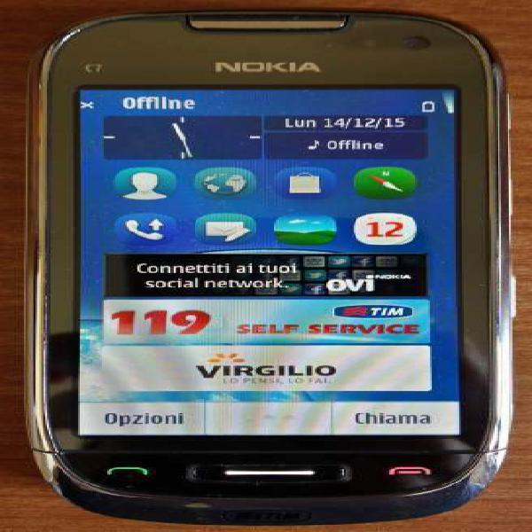 """Nokia c7-00 3g 8gb lcd 3.5"""" bt agps 8mp dotazione completa"""
