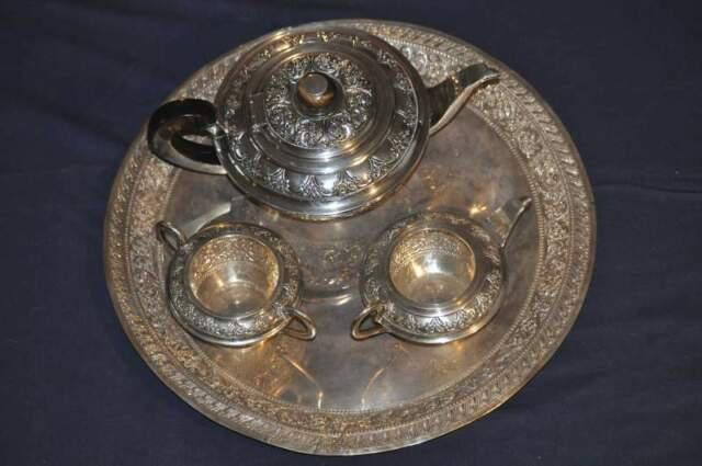 Servizio thè / caffè con vassoio in argento 800
