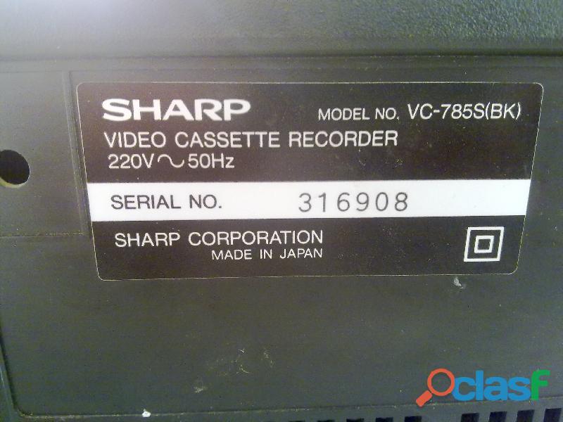 Videoregistratore lettore vhs SHARP VC 785S (BK) da 3