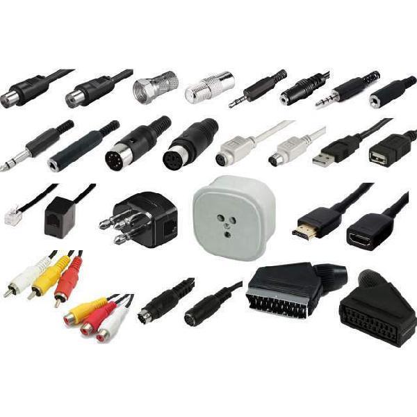 Cavi e adattatori di ogni tipo: audio, video, pc, telefono,