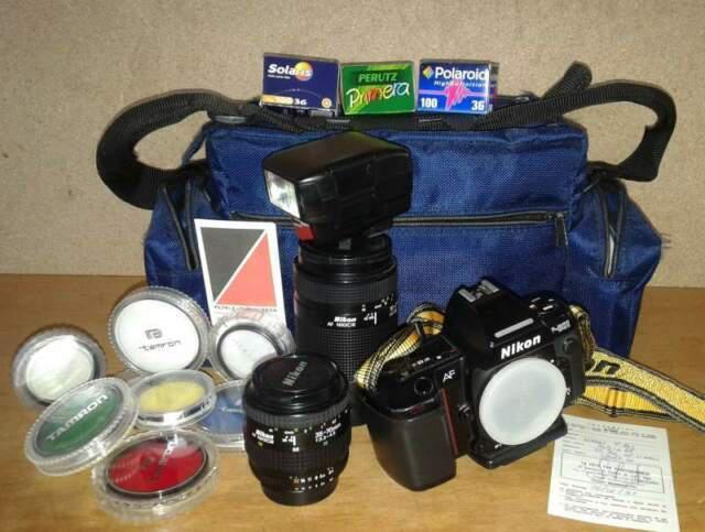 Nikon f-801 + obbiettivi + accessori