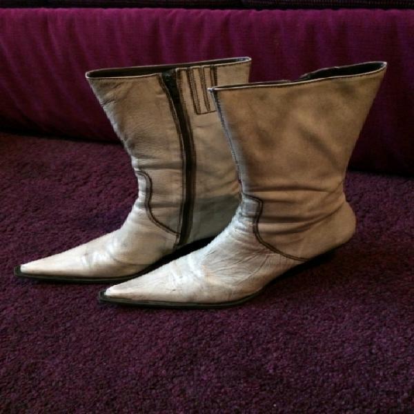Scarpe / stivali country da donna, beige e marroni, n° 39
