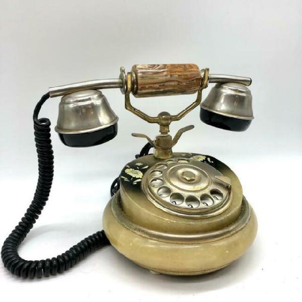 Telefono a disco vintage 2 fiori gialli