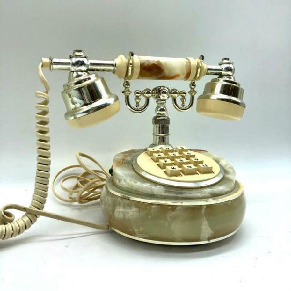 Telefono pietra verde tasti quadrati beige