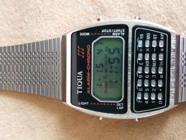 Orologio calcolatrice anni 70 tiqua
