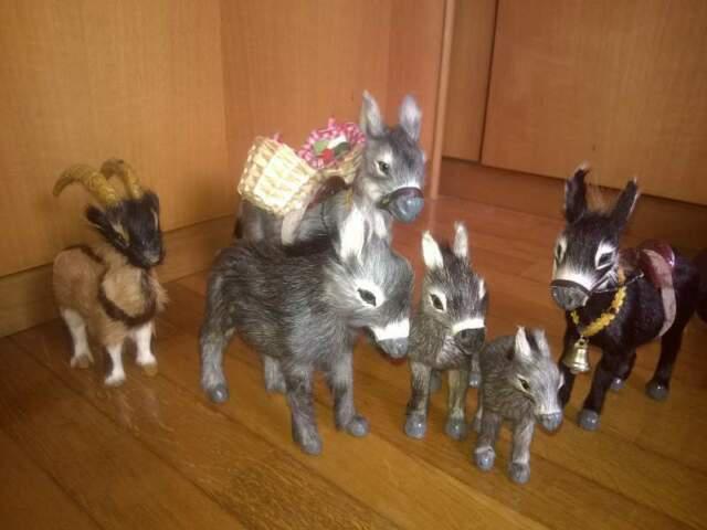 Animali in pelo, collezione di 7 animali