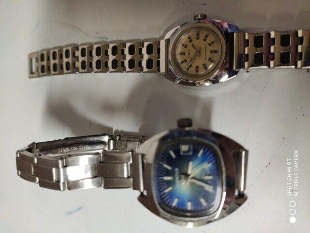 Coppia orologi vintage diantus + times da taschino