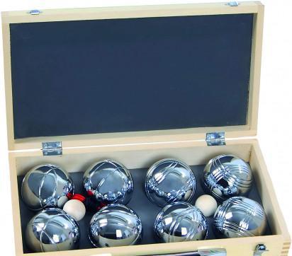Set bocce petanca blinky cassetta legno,set 2x4