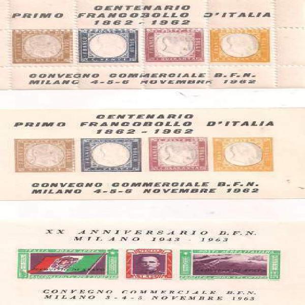 Italia foglietto trittico servizio di stato milano novembre