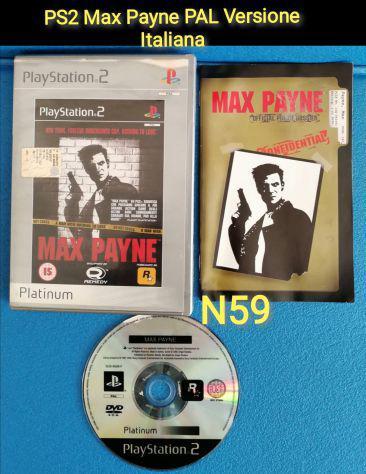 Ps2 max payne pal versione italiana