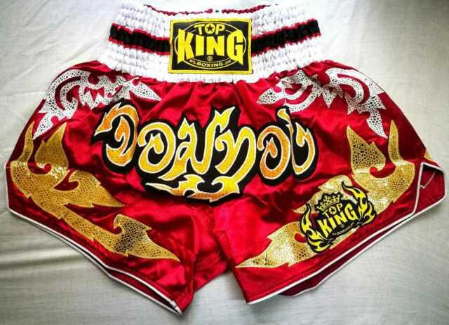 Muay Thai Shorts Pantaloncini Thai Boxe Kick Boxing MMA Satinati King