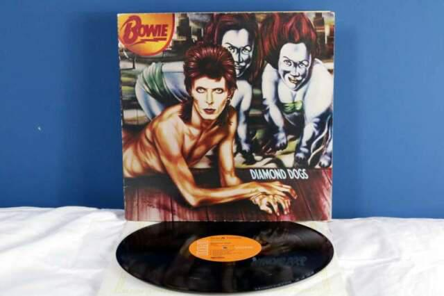 David bowie diamond dogs lp vinile *ex-/ex-* 1974 uk raro