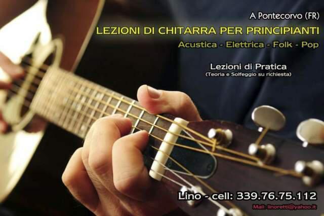 Lezioni individuali di chitarra