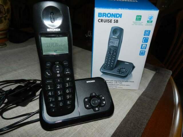 Telefono cordless brondi cruise sb con segreteria,