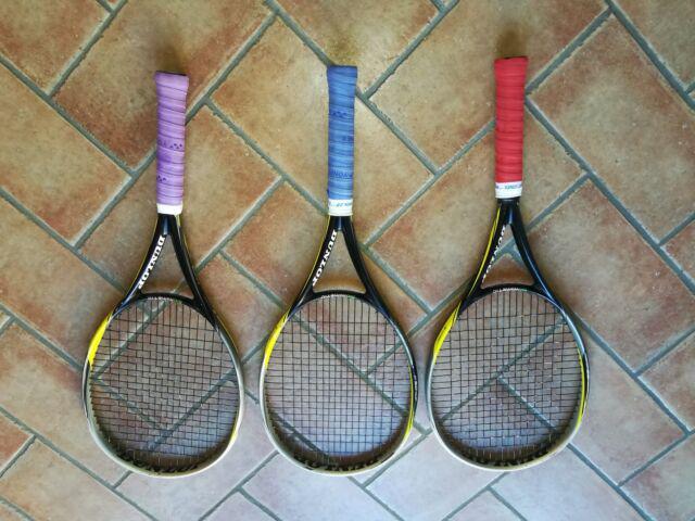 Tre racchette dunlop f5.0 tour e corde 200m dunlop nt max