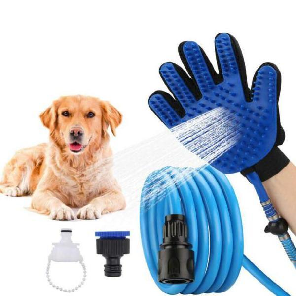 Kit pulizia animali lavaggio cane gatto 2 guanto