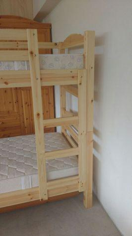 Letto a castello in legno per casa alberghi b&b comunità