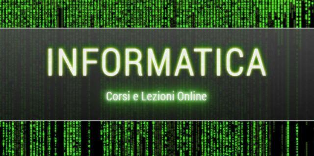Lezioni informatica