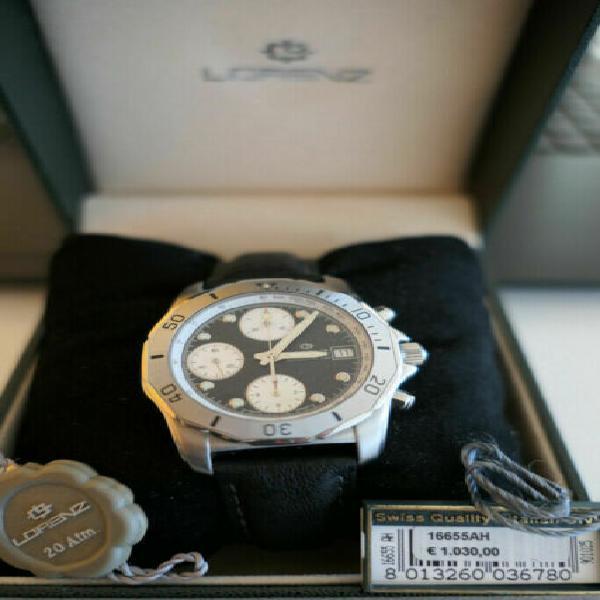 Lorenz ouragan valjoux 7750 orologio cronografo automatico