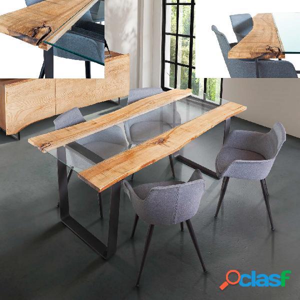 Tavolo domus corteccia glass
