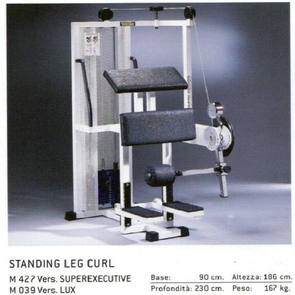 Stending leg curl e sitting calf technogym