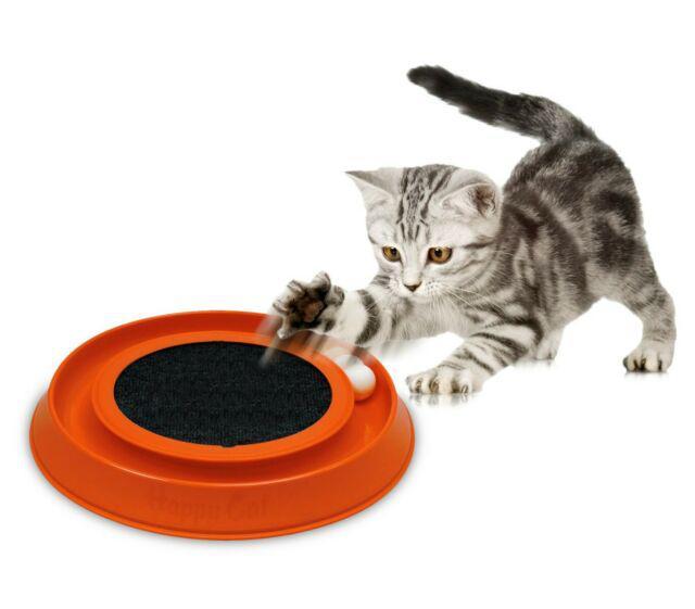 10596 gioco interattivo con tira graffi per gatti happy cat