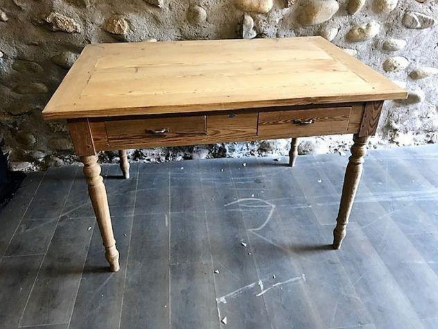 Antico tavolo scrittoio grezzo al naturale