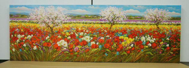 Dipinto olio su tela cm. 120 x 40