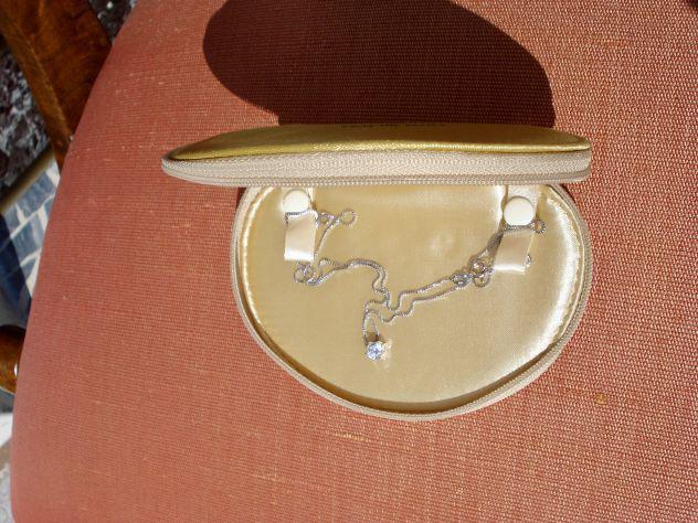 Punto luce collana con catenina venezia in argento 925