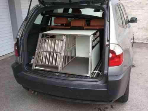 Trasportino gabbia box in alluminio 90x69x50cm