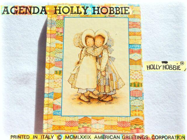 Vintage holly hobbie 1980 agenda 365 giorni 12 mesi