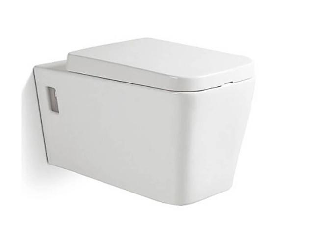 Wc sospeso in ceramica 36x57x32 cm vorich minimal bianco