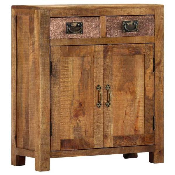 Vidaxl credenza 65x30x75 cm in legno massello di mango