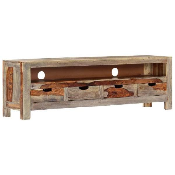 Vidaxl mobile porta tv in legno di sheesham 130x30x40 cm