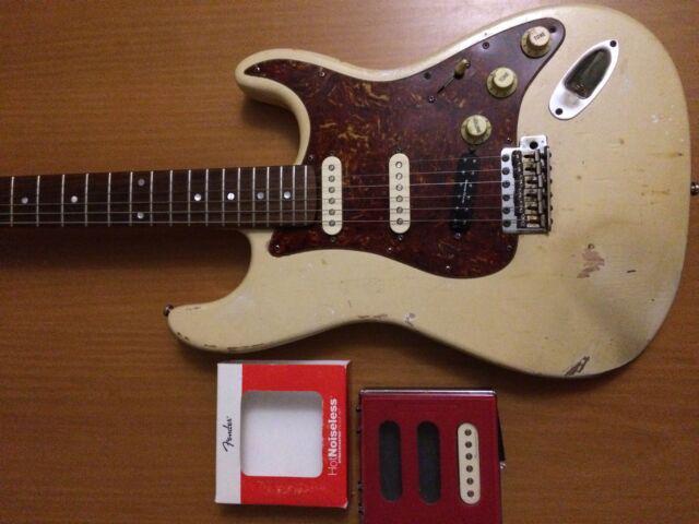 Fender stratocaster soft relic pickups fender hot noiseless