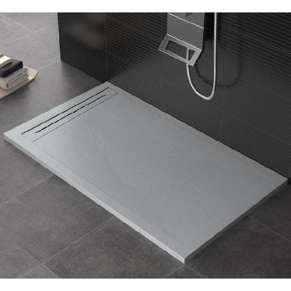 Piatto doccia 80x180 cm in pietra maier oasis grigio chiaro