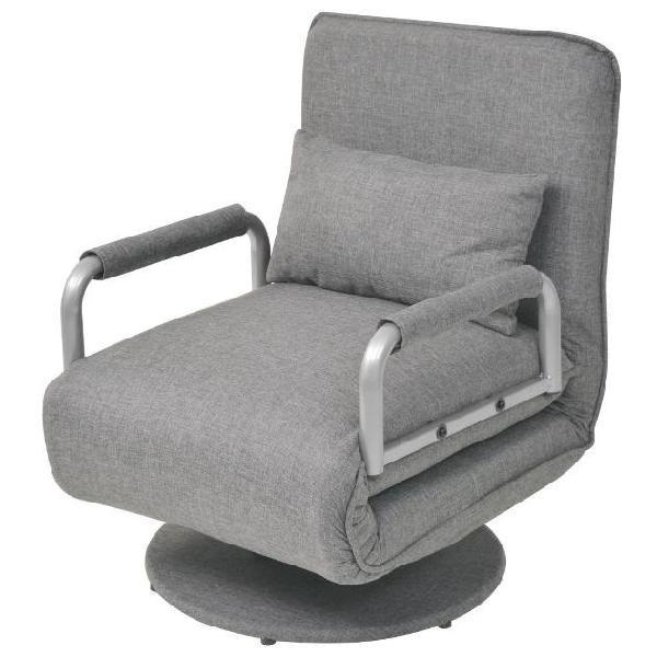 Vidaxl sedia girevole e divano letto grigio chiaro in