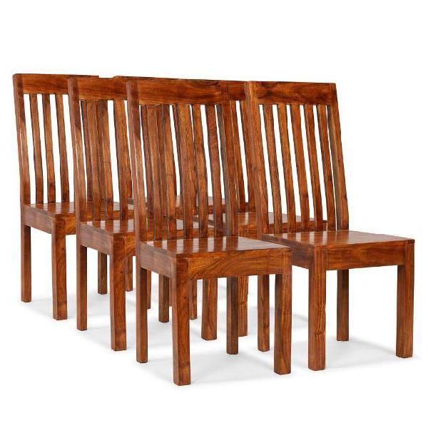 Vidaxl sedie da pranzo moderne 6 pz massello con finitura