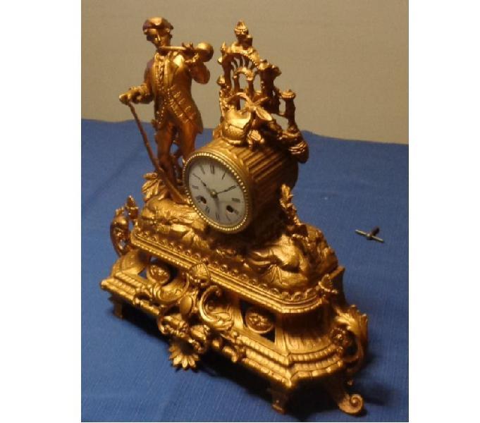 Antico orologio a pendolo parigina '800 tavolo = revisionato