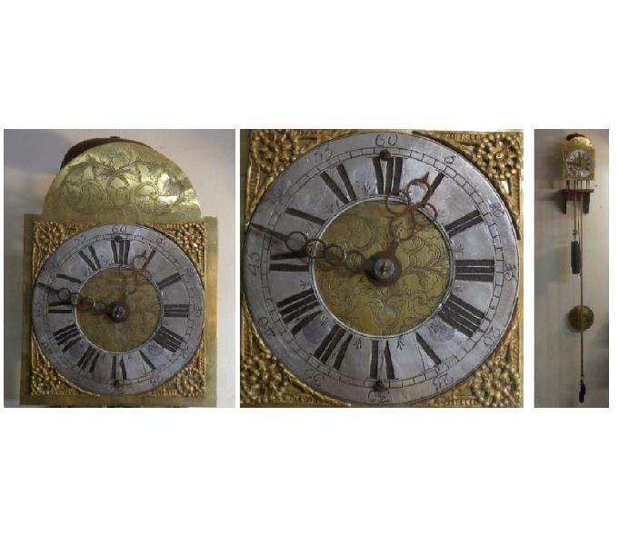 Antico orologio a lanterna in ferro battuto del 700 funziona
