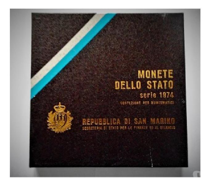 San marino-monete dello stato-monetazione ordinaria 1974