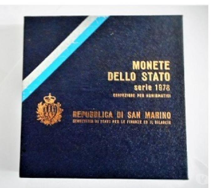 San marino-monete dello stato-monetazione ordinaria 1978