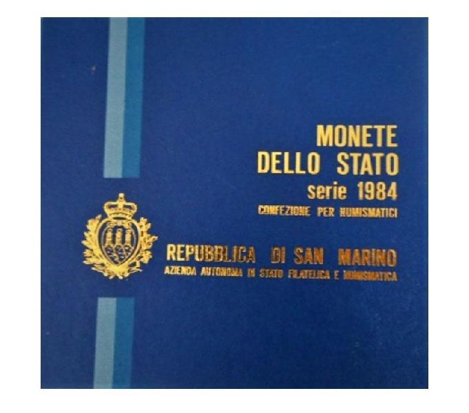 San marino-monete dello stato-monetazione ordinaria 1984