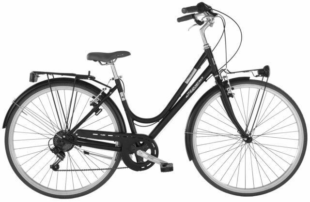 """Bicicletta da donna 28"""" 7v alpina bonneville nera"""