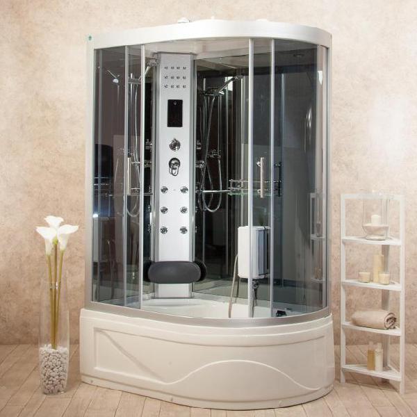 Box doccia idromassaggio multifunzione 130x85 cm vasca