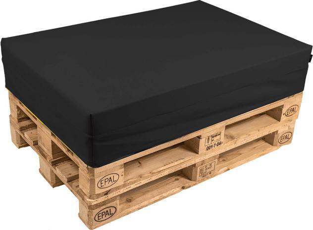 Cuscino per pallet 120x80cm in tessuto pomodone nero