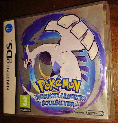 Gioco cartuccia pokemon versione argento anima soulsilver ds
