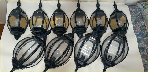 Lampadari moretti da parete e da soffitto stile vintage