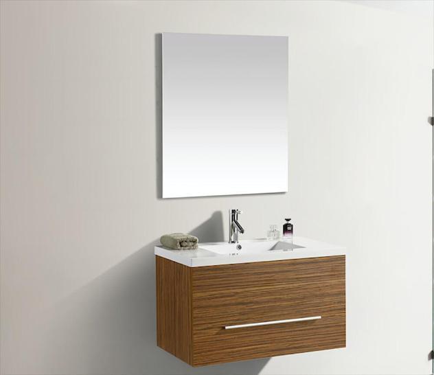 Mobile bagno sospeso 80 cm in mdf con specchiera vorich lake
