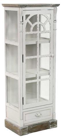 Mobile vetrina 1 anta 1 cassetto in legno adami provenza